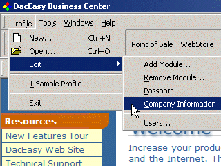 Step3 - Click Company Information