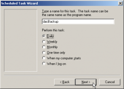 Name the scheduled task